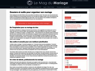 Aperçu du site Secret de Mariage