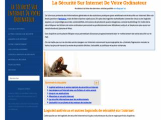 La Sécurité Internet de votre ordinateur perso