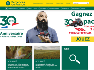 Capture du site http://www.semencesdefrance.com