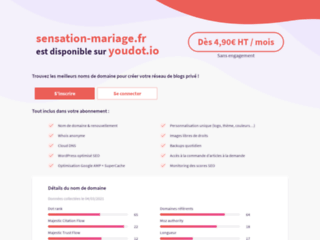 Capture du site http://sensation-mariage.fr