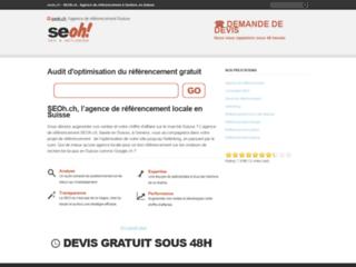 Aperçu du site SEOh.ch