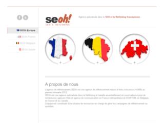 Aperçu du site SEOh Europe