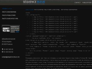 Capture du site http://www.sequence-bleue.com