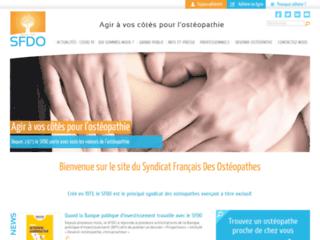 Syndicat français des ostéopathes sur http://www.sfdo.info