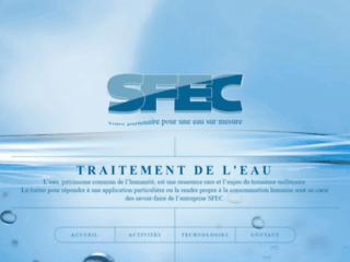 Société SFEC, spécialiste du traitement de l'eau par membran