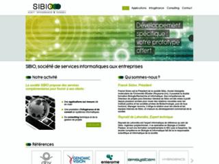 Site de la société SIBIO basée à romainville