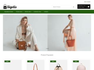Capture du site http://www.sigelis.com