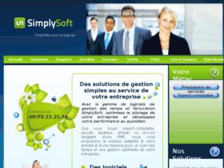 Capture du site http://www.simplysoft.fr