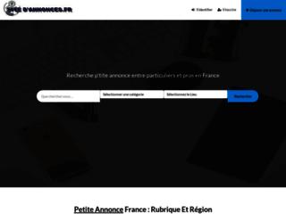 Site d'annonces pour les petites annonces de France