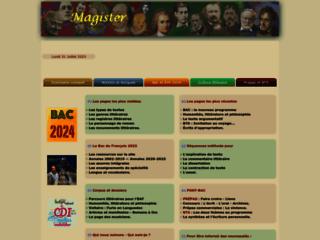 Magister, travaux dirigés de français - Travaux dirigés