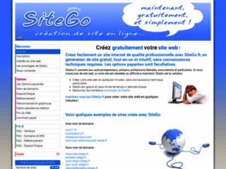 Créer un site gratuitement avec SiteGo