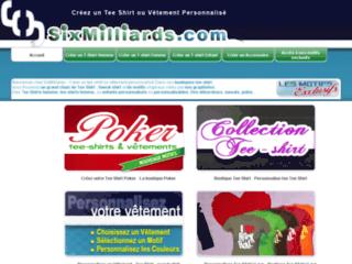 Personnalisation de tee shirt, vêtement ou accessoire - SixMilliards T-Shirt