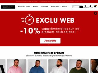 Détails : Des habits pour hommes de grande taille