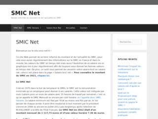Aperçu du site SMIC Net