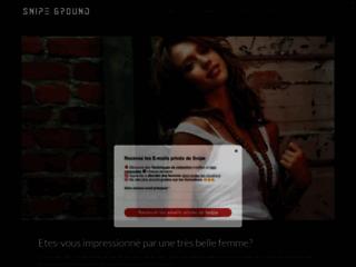 Capture du site http://www.snipeground.com/