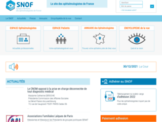 Syndicat national des ophtalmologistes de France sur http://www.snof.org