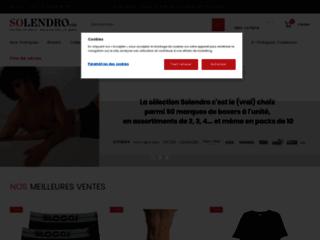 Détails : Solendro le site pour vos slips, caleçons et boxers homme