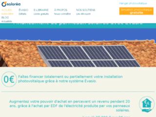 Capture du site http://www.solorea.com