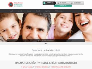 Aperçu du site SolutionsDeRegroupementDeCredits.fr