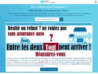 Aperçu du site SOS Résilié