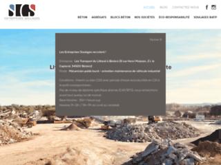 Production, vente et livraison de sable et gravier