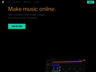 Studio Soundation Crea musica Online, Digital Audio Workstation, Sequencer Online