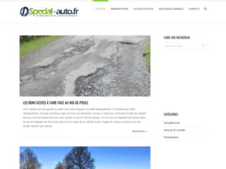 Aperçu du site Spécial auto