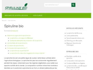La Spiruline Bio : Informations et Sites utiles