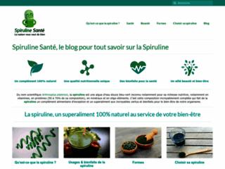 Spiruline Sant�, le blog qui vous dit tout sur la spiruline