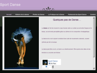 Capture du site http://sportdanse.weebly.com