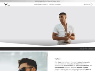 Détails : Les belles boucles d'oreille pour hommes de Stag Bijoux