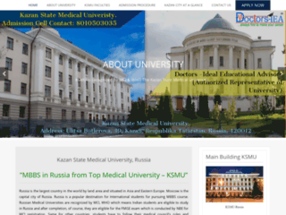 Kazan State Medical University Admission