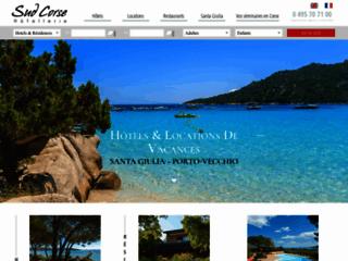 Capture du site http://www.sud-corse.com/