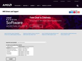 Supporto e Download Ufficiale Driver AMD