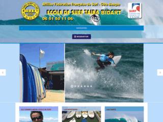 Ecole de Surf Taiba à Bidart - Côte Basque - Pays basque