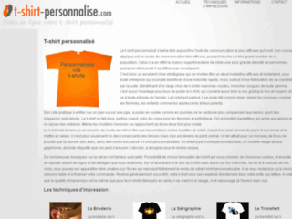 T-shirt personnalise