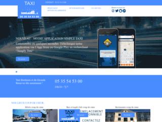 Un groupement de taxis à Bordeaux en ligne