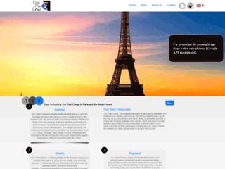Réservez votre taxi pas cher Paris en ligne