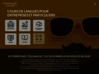Capture du site http://www.telelangue.com