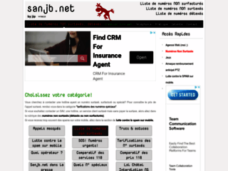 Capture du site http://telephonie.sanjb.net/index.php