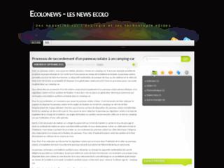Tendance-e : Site d'informations sur l'écologie et l'environnement.