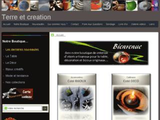Capture du site http://www.terreetcreation.fr/
