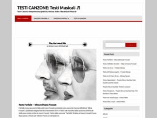 TestiCanzone.com - Testi Canzoni - Testi Musicali