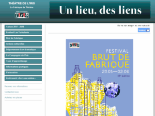 Capture du site http://www.theatredeliris.fr/