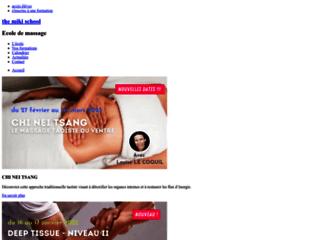 Ecole de formation massage Paris sur http://www.themikischool.com