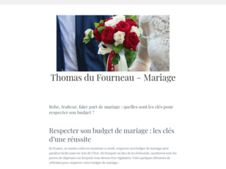 Capture du site http://www.thomasdufourneau-mariage.fr/