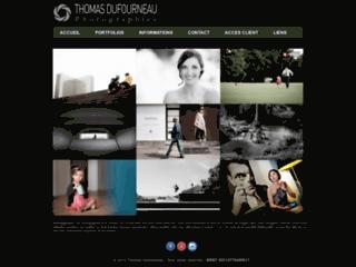 Capture du site http://www.thomasdufourneau-photographies.fr/