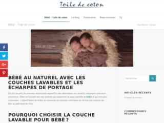 Tissus naturels et bio pour la fabrication de couches lavables - Toile de Coton