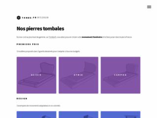 Catalogue de pierres tombales pour toute la France