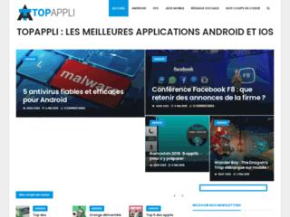 Capture du site http://www.topappli.fr
